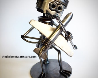 Aircraft Mechanic Metal Art