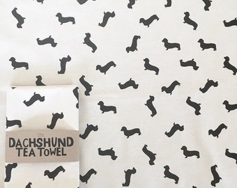 The Dachshund Tea Towel