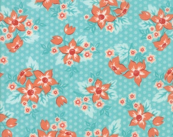 Sweet Marion Robin's Egg Dotty Garden Yardage SKU# 24040-31 Sweet Marion by April Rosenthal for Moda Fabrics