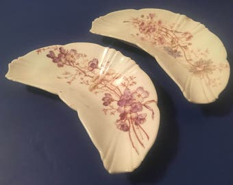 Pair of Vintage Austrian Bone Dishes
