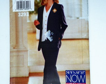 Blowout! Misses Very EASY Top Jacket Pants Butterick See & Sew 6447 UNCUT And Plus Sizes 12-14-16 Misses Sewing Pattern Bust 34-36-38