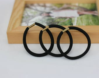 50PCS Elastics Hair Tie Headband Hair Strap with metal connector Ponytail holder for Hair Bows Accessory Hair Tie