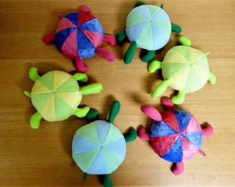 Turtle Stuffed Animal/Purple-Pink Minky Stuffed Turtle Plush/Baby Shower Gift/Nursery Decor/Baby Safe Toy/Child Proof Plushie/Infant toy