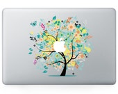 Macbook 13 inch decal sticker magic yellow apple tree art for Apple Laptop