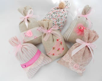 """35 Bags Lavender from France - Lavender scented Sachet of Provence """"Collection tenderness bucolic"""" gift wedding, guests, baptism..."""