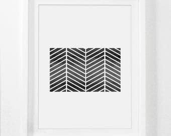 Printable Tribal Art, Africa Wall Prints, Black and White Global Artwork, Digital Native Artwork, Beige and Black Geometric Donwloadable