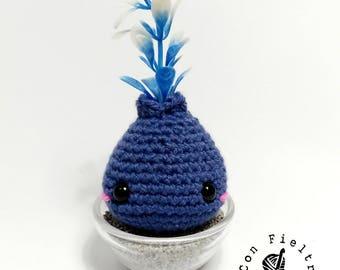 PRE-ORDER Mini Bito, little bulb-kid (blue plant)
