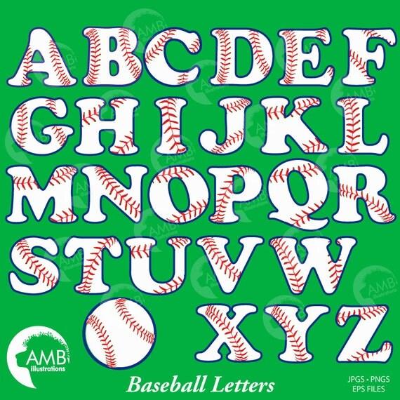 Baseball Letters Clipart Sports Clipart Baseball Alphabet