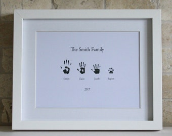 Handprint Picture, Personalised Picture, Personalised Gift, Grandparents Gift, Special Gift, Childs Picture, Childs Handprint, Gift voucher