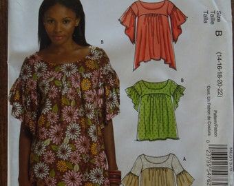 Stitch n save M6013, McCalls, UNCUT sewing pattern, craft supplies, tops, blouses, shirts, pullover style