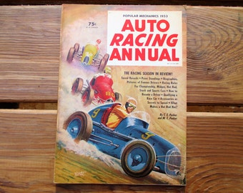 1953 Auto Racing Annual by C E Packer and MT Packer for Popular Mechanics