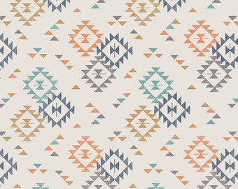 Lewis & Irene To Catch a Dream Patchwork Quilting Fabric A173.1 Triangle Print on Cream