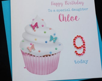 Cupcake Personalised Birthday Card