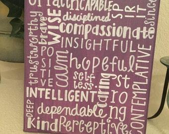 custom word collage 8x10