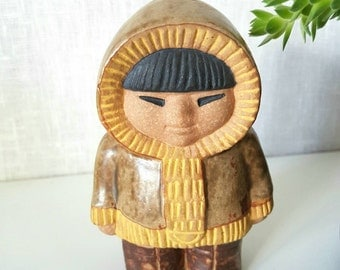 Lisa Larson Eskimo for Gustavsberg Sweden. Scandinavian ceramic figure 70's.