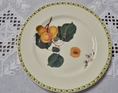 RESERVED Vintage Queens Hookers Fruit Salad Dessert Plate Apricot Blossom Royal Horticultural Society India PanchosPorch