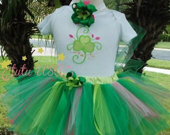 Girls St Patrick's Day Shirt, Baby St Patrick's Day Outfit,1st St Patrick's Day Outfit, Green Tutu, Shamrock St Patrick's Day Outfit,