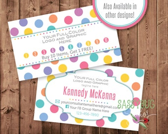Loyalty Business Marketing Cards | Buy 10 Get 1 Free Cards | Personalized | 3.5 x 2 | Two-Sided | DIGITAL PRINTABLE
