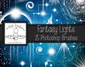 20% OFF Fantasy Lights Photoshop Brush Set (25 brushes) High Quality ~ Instant Download.
