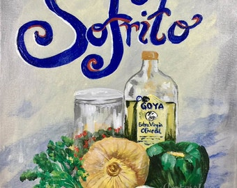 Sofrito print,cuban cooking,spanish cooking, cuban kitchen
