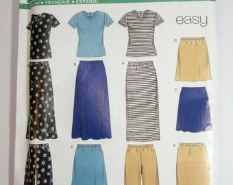 New Look 6730 Misses Top Pants & Skirt Sewing Pattern Sizes 10 - 24 Uncut