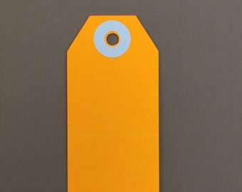 Neon Orange Parcel Tag, 20 Gift Tags, Parcel Tags, Gift Tags, Sale Tags, Holoday Tags, Christnas Tags