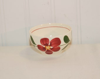 Vintage Southern Potteries Small Floral Uncovered Sugar Bowl (c.1940's-1950's) Blue Ridge, Southern Pottery, Hand Painted Flowers, Pom Pom