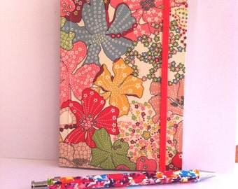 Notebook Liberty of London pink Mauvey with elastic