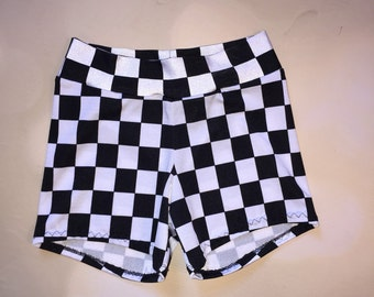 Checkered Spandex Shorts