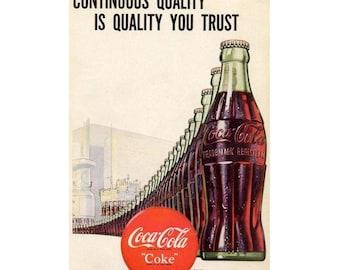 Vintage 1947 newspaper ad for Coca Cola - 419
