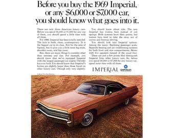 Vintage magazine ad for a 1969 Chrysler Imperial - 11