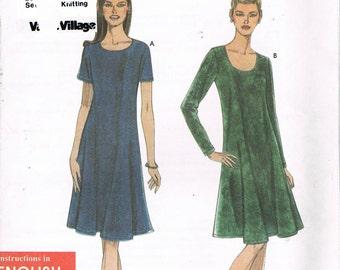 Misses Size XS-XL Easy Dress Pattern - Scoop Neck Princess Seam Dress Pattern - Short Dress Pattern - Uncut Pattern - Simplicity 9406