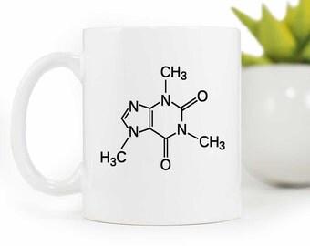 Geekery Mug,Caffeine Molecule Mug,Science Mug,Coffee Mug,Caffeine Molecule,Caffine Addict mug,ceramic Coffee Cup MUG-042