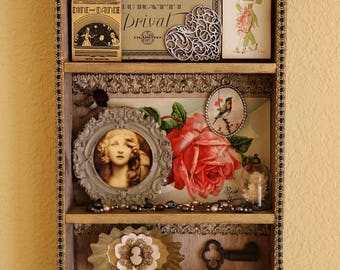 Vintage Glamour Girl - Found Object Assemblage