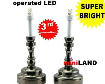 Black Candlesticks lamp one pair LED Super bright with On/off switch for 1:12 dollhouse miniature