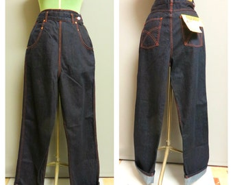 Vintage 1940's woman  jeans repro by Freddies of Pinewood Medium