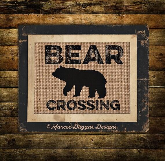 Bear Crossing | Man Cave | Lodge | Nature | Bear | Woods | 241