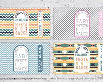 Hot Sauce Favor Labels for 5 oz Bottles   Baby Shower Favor, Party Favors, Hot Sauce Favors   Printable Digital Design   Custom Favor Labels