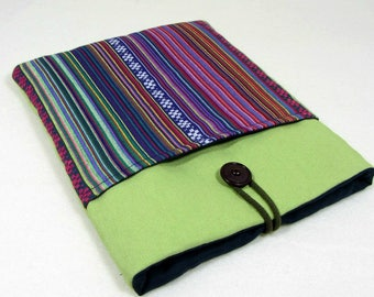 Tablet case, kindle voyage case, iPad sleeve with pocket, fabric tablet cover, padded case, reader sleeve