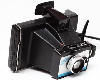 Vintage Polaroid Super Shooter Instant Film Land Camera Made in USA 1970s Fully Operational