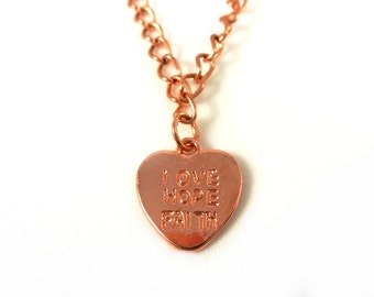Love hope faith necklace