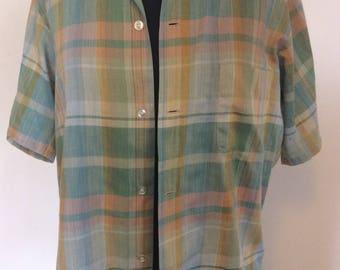 Lot of 5 Vintage Plaid Men's Shirts - Med.
