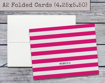 Personalized Stationery Set - Personalized Stationary - Custom Notecards - Personalized Notecards Set - Custom Gift - A2 Folded Note Cards