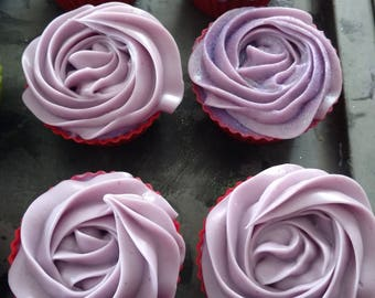 Cranberry Butter Soap Cupcakes
