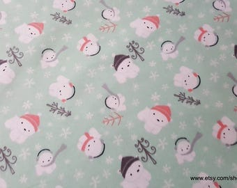 Flannel Fabric - Polar Cubs - 1 yard - 100% Cotton Flannel