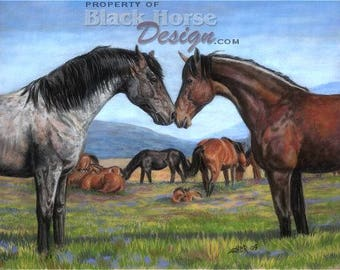 Come Together - wild horses painting