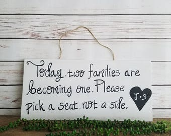 Rustic Wedding Sign, Pick a Seat Sign, Wedding Seating Sign, Rustic Wedding Decor, Wood Wedding Signs, Personalized Wedding Signage