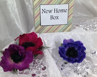 New Home Box - Moving house, Leaving home Gift, Handmade.