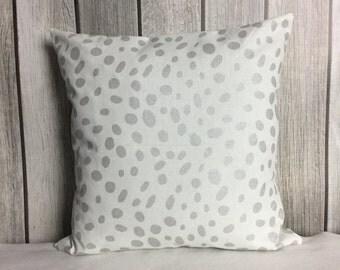 Metallic Pillow. Silver Pillow. Throw Pillow. Pillow Cover.