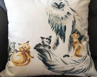 Cat Family cushion
